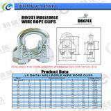 Brides malléables de câble métallique de l'usine DIN741
