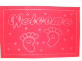 Waterproof Anti-Slip Embroidered Door Mat com PVC de volta