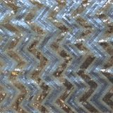 Polyester Mesh Embroidery avec Multi Size Sequin (MMS1009)