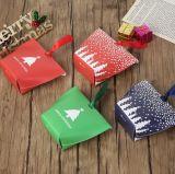 Het buitensporige Vakje van de Gift van het Document van Kerstmis van de Druk, dat het Verpakkende Vakje van de Gift van het Document, het Vakje van het Suikergoed van Kerstmis vouwt