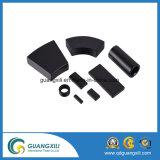 Schwarzes Ferrit Dauermagnet mit glatter Oberfläche für Großverkauf