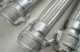 Mangueira trançada do metal flexível da junção Ss304 ou Ss316 rápida