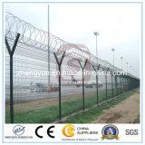 Frontière de sécurité d'aéroport d'approvisionnement d'usine avec le bras de V