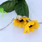 Armband van de Sneeuwvlok van het Kristal van 925 van vrouwen de Echte Zilveren