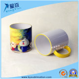 Taza de cerámica de la sublimación del color del borde