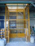 Elevador vertical hidráulico del cargo del cargamento de la elevación pesada del mástil