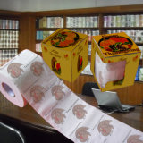 L'action de grâces a estampé le tissu de salle de bains personnalisé par image de papier de toilette
