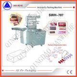 Swh-7017 tipo de envolvimento excedente automático máquina de empacotamento