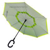 Paraguas Inside-out del revés al revés con el marco de la fibra de vidrio de FRP