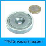 Сильным магнит/чашка бака неодимия NdFeB тяги продетые нитку усилием гибкие дешевые