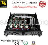 8CH amplificador de poder audio estereofónico da classe D Digital