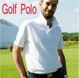 Camiseta unisex 100% del polo de la raya de la funda del cortocircuito de la alta calidad del algodón (FY-PTS47)