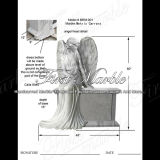 Marbre Stone Granite Memorial Metrix Carrara Tombstone Mem-001