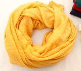 Écharpe de toile d'automne de ressort d'ouate en soie colorée