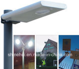 China Manufacturer All in Ein LED Integrated Solar Street Light mit Remote Motion Sensor Cer RoHS ISO IP68 Approved 5W-100W