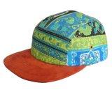 カスタムヘビの革縁5のパネルの野球帽