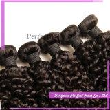 ねじれたカールは毛の織り方のブラジルの人間の毛髪の織り方で縫う
