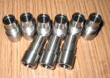 Hoge Nauwkeurig past CNC van de Schroef Roestvrij staal aan draaide Delen