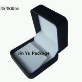 Черная коробка упаковки Jewellery подарка кожи Faux для кольца