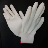 灰色PUの手袋のやしは安全作業手袋の中国の製造業者に塗った