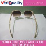 Frauen-Sonnenbrillen mit UV400 Filter-Qualitätskontrolle-Inspektion-Service in Guangzhou