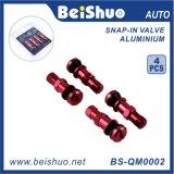 4pcs / set auto del neumático del coche de válvula del neumático con 4 Color