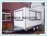 Counter Top Chestnut Kitchen Candy Floss Coffee Trailer