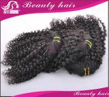 ブラジルのバージンの毛3PCSブラジルボディ波の人間の毛髪は焦茶薄茶の#2の#4毛の拡張を編む