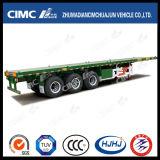 Cimc Huajun 40FT des Flachbett-3axle Schlussteil halb (1*40', Behälter 2*20' u. 1*20' tragen)