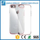 Nuevo electrochapar la caja barata transparente ultra fina de la cubierta del teléfono celular de TPU para el iPhone 7