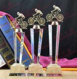 De Trofee Oscar Costumized Logo Words Trophies van de Kampioenen van sporten kent Gift toe