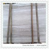 Деревянный белый китайский мраморный сляб для плиток инженерства