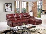 El sofá de la sala de estar con el sofá moderno del cuero genuino fijó (455)