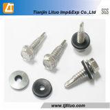 Vis Drilling d'individu de tête Hex de DIN7504k avec la rondelle d'EPDM