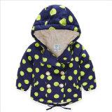 Mädchen-Kinderberber-Vlies-Mantel mit grossem Polka PUNKT