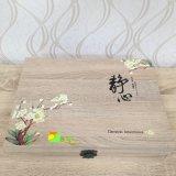 Cuatro colores de madera de té de embalaje de papel de arte caja de regalo