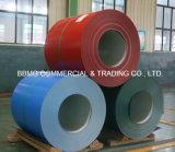 A qualidade do material de construção Pre-Painted a bobina de aço galvanizada revestida galvanizada das bobinas PPGI PPGI a cor de aço