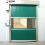 Высокоскоростная дверь завальцовки PVC двери гаража дистанционного управления