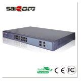 interruttore di POE della rete di Ethernet delle porte di 1000Mbps 15.4W 2GX+ 16 PoE