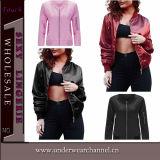 2016 nuevos deportes de las mujeres de la manera del diseño se divierten la chaqueta del bombardero (TMK5340)