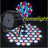 lampe de PARITÉ de 6PCS/54 X de 3W RVB pour la lumière de musique de discos de lampe d'usager de club