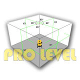Het automatische Niveau van de Laser 4V4h1d (SK440R en SK440G)