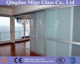 Painel transparente do vidro laminado com a película leitosa do branco PVB