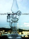 Pipe de fumage en verre de Perc de Birdcage de roue de vent de forme de panne