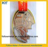 Medalha feita sob encomenda, estação de acabamento, face da bicicleta, esmalte macio, colhedor térmico de transferência