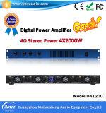 Усилитель D41200 4 цифров силы переключения канала x 2000W 4