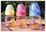 frasco de alimentação de vidro elevado do bebê de 120ml Borocilicate