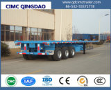 Cimc Semi Aanhangwagen van de Container van 3 van Assen Fuwa/BPW Chassis van het Skelet 40FT Flatbed
