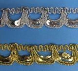 Край шнурка популярных Sequins глянцеватый для украшения