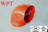 UL FM Approved 300psi Ductile Cast Iron 90 Grooved Elbow